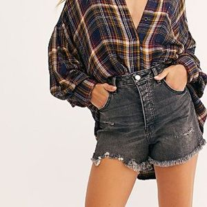 Free People Jesse Cut Off High Rise Shorts 30